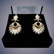 Estate 14 Karat Etruscan Revival Earrings