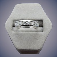 Estate 14 kKarat Diamond Wedding Band