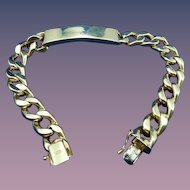 Estate Classic 14 Karat Identification Bracelet