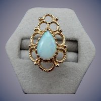 Estate 14 Karat Opal Ring