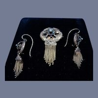 Victorian Earrings and Brooch
