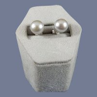 Silver Cultured Pearl Earrings
