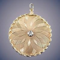 14 Karat Diamond Charm