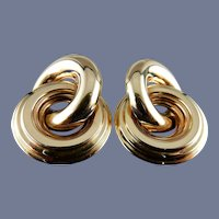 14 Karat Circular Entertwined Earrings
