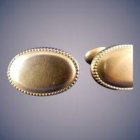 Vintage 10 Karat Yellow Gold Cufflinks