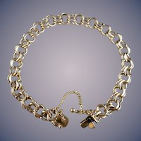 Vintage 14 Karat Charm Bracelet