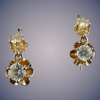 Vintage 14 Karat Diamond Earrings