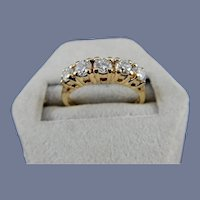 14 Karat 5 Diamond Wedding Band