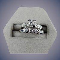 18 Karat Diamond Wedding Set