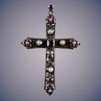 Vintage Gem Encrusted Cross
