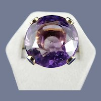 Large Round Amethyst Ring