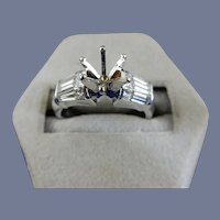 18 Karat Diamond Engagement Mounting