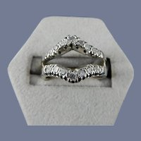 14 Karat White Gold Diamond Guard