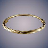 18 Karat Bangle Bracelet