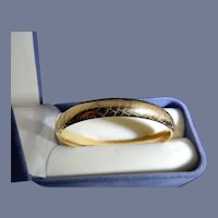 14 Karat Bangle Bracelet