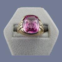 10 Karat Mens Rose Quartz Ring