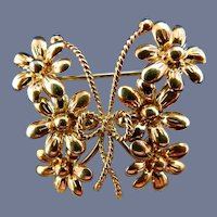 18 Karat Tiffany Butterfly Pin