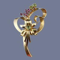 14 Karat Tiffany Vintage Retro Brooch