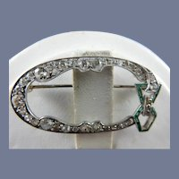 Vintage Platinum Art Deco Brooch