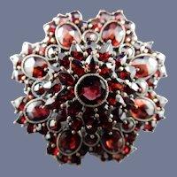 Vintage Bohemian Garnet Pin