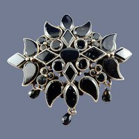 14 Karat Black Onyx Mourning Pin