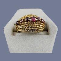 18 Karat Natural Ruby Ring