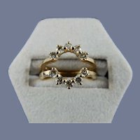 14 Karat Yellow Gold diamond Insert Guard