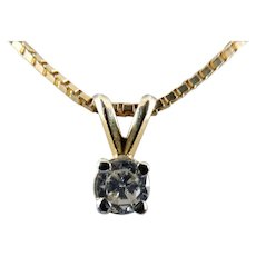 14 Karat Diamond Solitaire Pendant