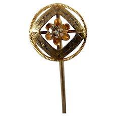 10 Karat Diamond Stick Pin