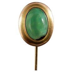 10 Karat Jade Stick Pin