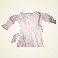"Antique Victorian 18.5"" White Doll Dress Undergarment"