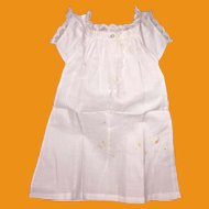 Antique Victorian Cotton  Doll Frock
