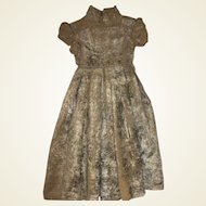 Antique Old Velvet Dress for Larger Antique Doll