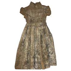 Antique Old Velvet Dress for Larger Antique Doll