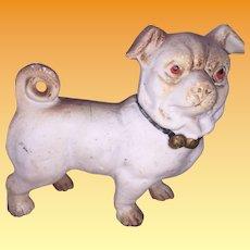 Antique Parian Bisque German Pug Doggy