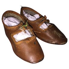 Antique German Oil Cloth Doll Shoes