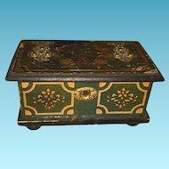 Old Lithogragh Miniature Dollhouse Blanket Box