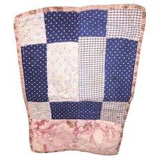 Antique New England Salesman Sampler Miniature Quilt