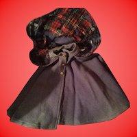 Antique Early Soft Felt Doll Or Teddy Bear Cape
