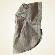 Old Gingham Doll Cloth Bonnet