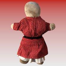 Antique Folk Art Early Cloth Rag Doll