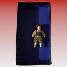 Antique German Carl Horn Miniature All Bisque Dollhouse Doll