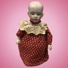 Antique German Heubach Character Baby Clockwork Windup Doll Toy