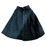 Antique Blue Calico Hand Sewn Doll Skirt