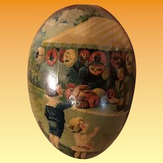 Antique German Lithograph Easter Dresden Paper Early Candy Container