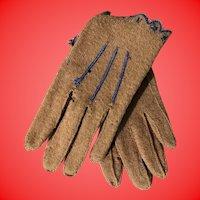Antique Miniature Fashion Doll Gloves