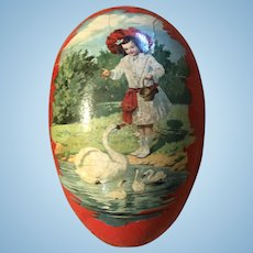 Antique German Paper Mache Easter Candy Container