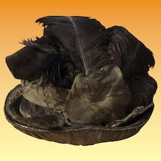 Antique Early Fashion Doll Hat