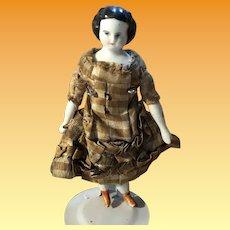 Antique German Dollhouse Miniature China Head Doll