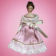 Antique German Dollhouse Little Woman Doll